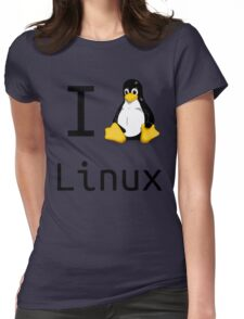 i love linux Womens Fitted T-Shirt