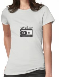 what .cd? Womens Fitted T-Shirt