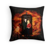 The Storm and The Wolf Throw Pillow
