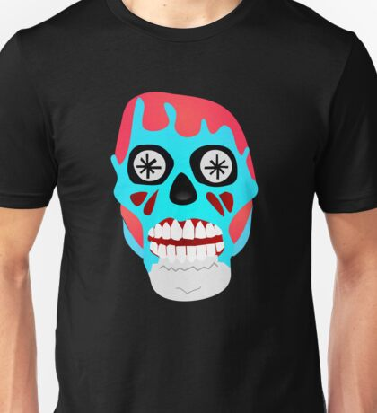 THEY LIVE  - SKULL - T-SHIRT - OBEY - CONSUME - WATCH TV - WORK - REPRODUCE - THIS IS YOUR GOD Unisex T-Shirt