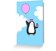 Penguin with Balloon Greeting Card