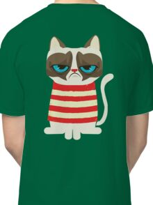 Grumpy Cat with Red Sweater Classic T-Shirt