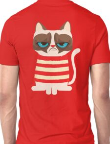 Grumpy Cat with Red Sweater Unisex T-Shirt