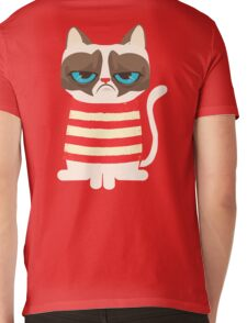 Grumpy Cat with Red Sweater Mens V-Neck T-Shirt