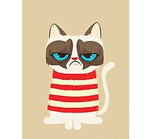 Grumpy Cat with Red Sweater Photographic Print