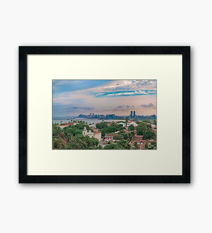 Aerial View of Olinda and Recife, Pernambuco Brazil Framed Print