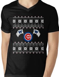 Merry Cubs-mas Mens V-Neck T-Shirt