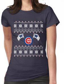 Merry Cubs-mas Womens Fitted T-Shirt