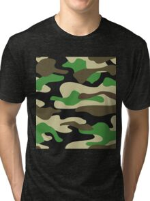 Camouflage Pattern Tri-blend T-Shirt