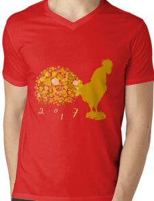 Festive 2017 Chinese Lunar New Year Of The Rooster Mens V-Neck T-Shirt