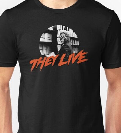 THEY LIVE  - KEYHOLE - T-SHIRT - OBEY - CONSUME - WATCH TV - WORK - REPRODUCE - THIS IS YOUR GOD Unisex T-Shirt