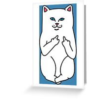 Cat Flicking Greeting Card