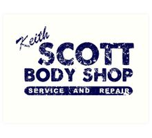 Keith Scott Body Shop Logo Art Print