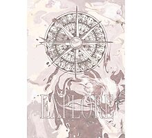 Marble Compass Photographic Print