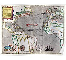 16th Century Map of the Known World Poster