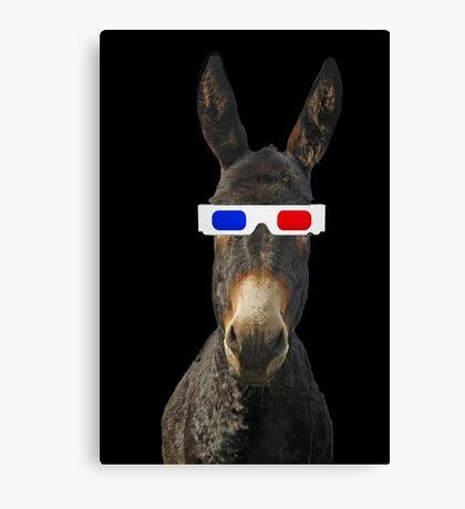 Funny donkey Canvas Print