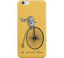 old school biker iPhone Case/Skin