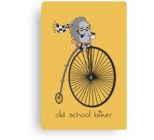 old school biker Canvas Print