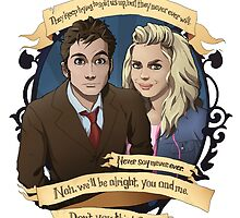 Rose and the 10th Doctor - Doctor Who by muin-an-staers