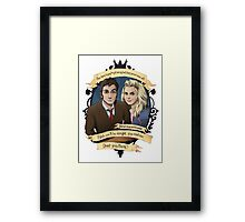 Rose and the 10th Doctor - Doctor Who Framed Print