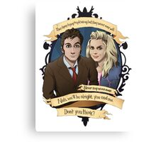 Rose and the 10th Doctor - Doctor Who Canvas Print
