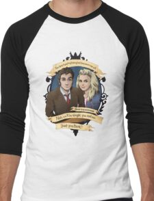 Rose and the 10th Doctor - Doctor Who Men's Baseball ¾ T-Shirt