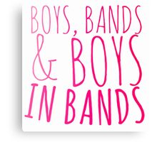 Boys in Bands Canvas Print