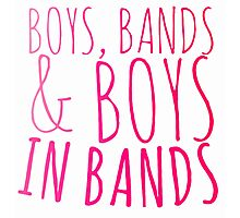 Boys in Bands Photographic Print