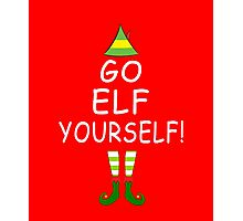 Funny Christmas Tree T-shirt: Go Elf Yourself! Tee Photographic Print