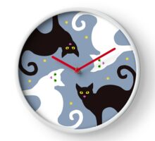 Cat Quartet Clock