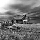 Prairie Schoolhouse - BW by Patrick Kavanagh