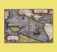 1589 - Ortelius - Maris Pacifici Kids Tee