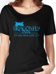 Gilmore Girls - Dragon Fly Inn Blue Women's Relaxed Fit T-Shirt