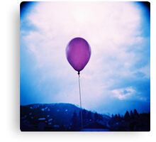 purple happiness Canvas Print