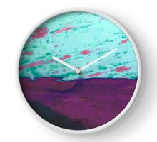 Abstract paint pattern Clock