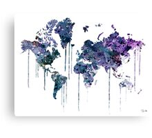 WATERCOLOR MAP Canvas Print