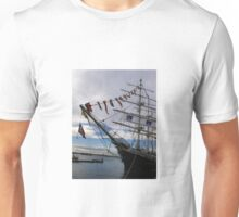 Tall ship at port, Unisex T-Shirt