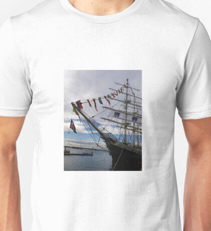 Tall ship at port, Unisex T-Shirt
