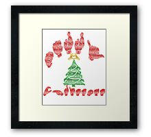 American Sign Language - Merry Christmas Framed Print