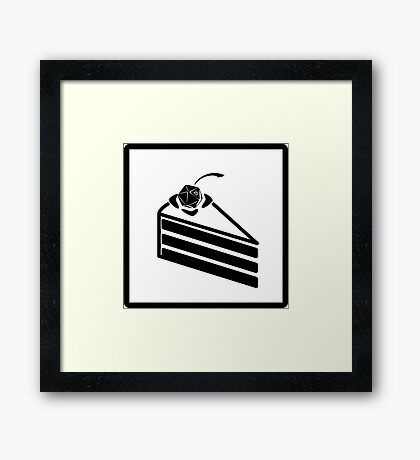 The Cake is a Die Framed Print