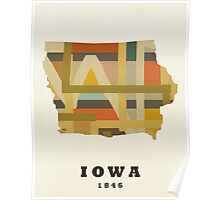 Iowa state map Poster