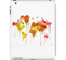 Red WATERCOLOR MAP iPad Case/Skin
