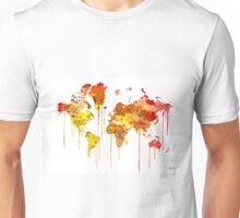 Red WATERCOLOR MAP Unisex T-Shirt