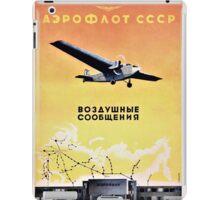 Vintage advertising aeroflot poster iPad Case/Skin
