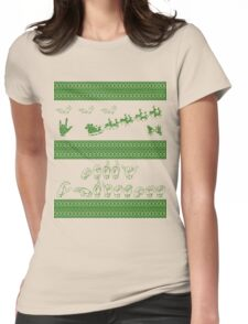 Merry Christmas - American Sign Language Womens Fitted T-Shirt