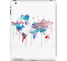 Blue WATERCOLOR MAP iPad Case/Skin