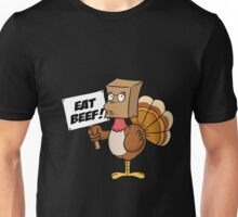 Funny Eat Beef Turkey Woble Thanksgiving Christmas Gift T-Shirt Unisex T-Shirt