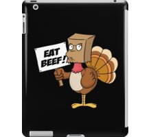 Funny Eat Beef Turkey Woble Thanksgiving Christmas Gift T-Shirt iPad Case/Skin