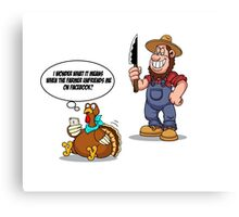 Funny Unfriend Turkey Woble Thanksgiving Christmas Gift T-Shirt Canvas Print