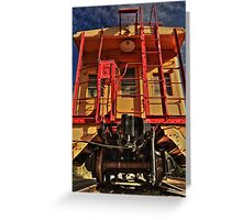 Caboose Greeting Card